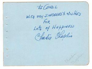 Chaplin Autograph
