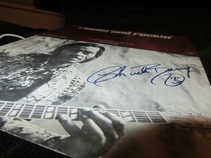 Chuck berry signed song book