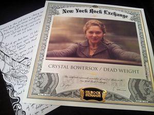 Bowersocks NY Rock Exchange Certificate