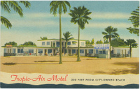 Tropic air motel postcard